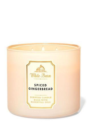 Ароматическая свеча bath and body works, spiced gingerbread
