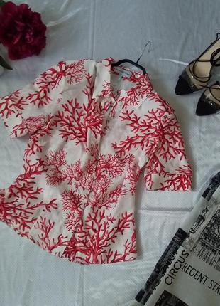 100% шелковая рубашка блуза с коротким рукавом