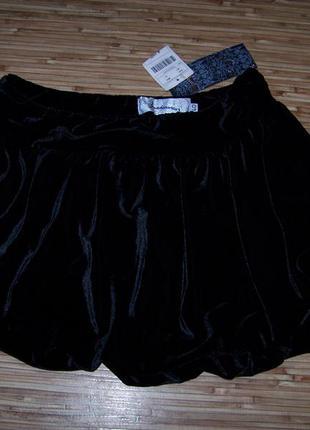 Велюровая юбка тюльпан stradivarius новая
