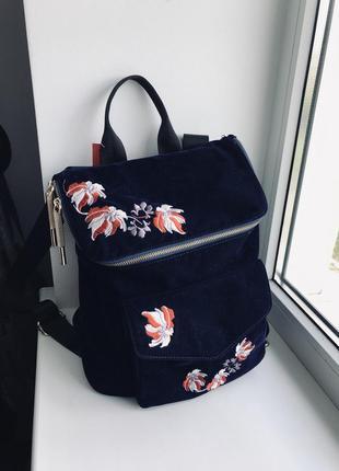 Рюкзак вельвет портфель