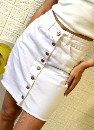 Юбка женская джинсовая 02 arox белая