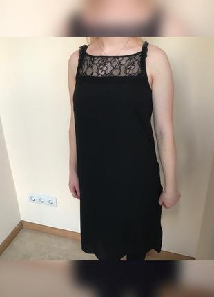 Класична міді сукня з ажуром