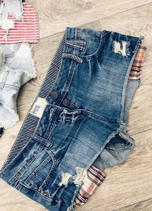 Шорты джинсовые hollister zara