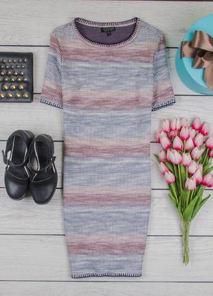 Платье трикотажное плотное по фигуре от topshop размер uk 8 наш р. 42
