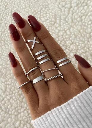 Кольца колечки на пальцы и фаланги тренд 2021