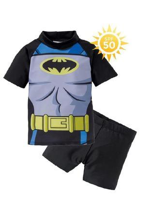 Купальный костюм с уф защитой spf 50, 74-80, 86-92, купальник, batman