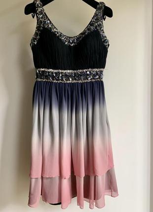 Вечернее платье выпускное нарядное aeelis 100% шелк (вечірня сукня)