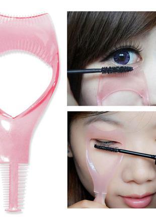 Трафарет для макияжа ресниц ( расческа для ресниц, удобное нанесение туши)