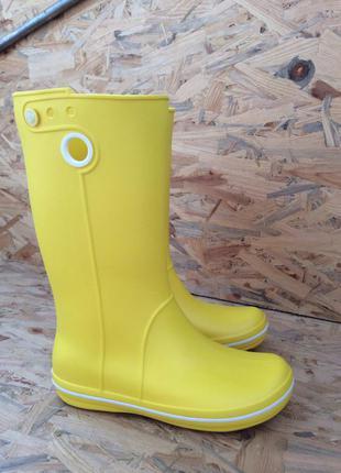 Женские резиновые сапоги крокс дождевые сапоги crocs crocband jaunt rain boot w6