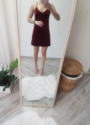 Идеальное велюровое платье topshop рр xs-s