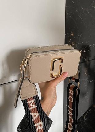 ❤ женская бежевая сумочка сумка marc jacobs snapshot beige mini ❤
