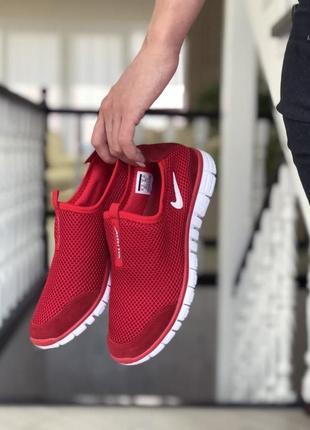 Кроссовки женские красные nike free run 3.0