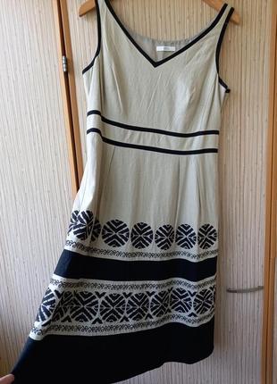 Льняное платье, платье, плаття