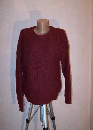 Марсала!свитер модного кроя monki/шерсть+альпака