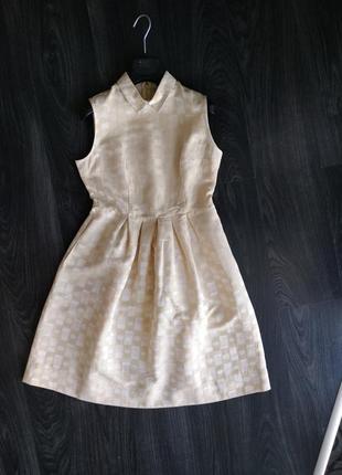 Платье шелк лен