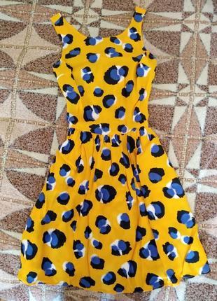 Красивое яркое платье xxs-xs
