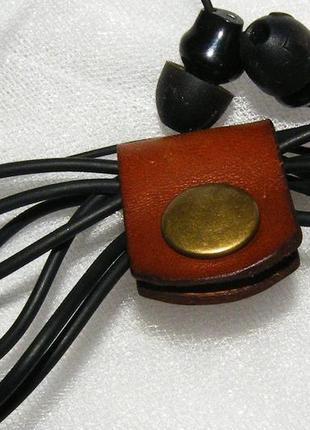 Кожаный держатель наушников холдер для наушников клипса для наушников