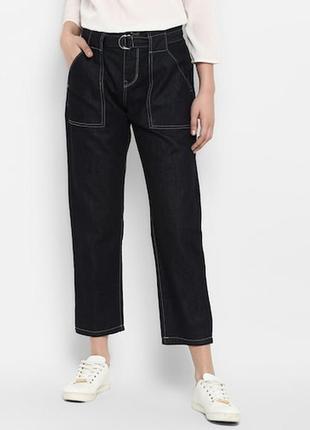 Прямі укорочені джинси великого розміру
