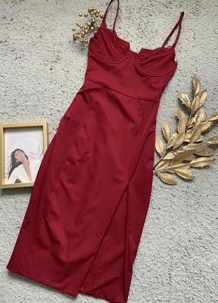 Шикарное бордовое платье oh poly❤️