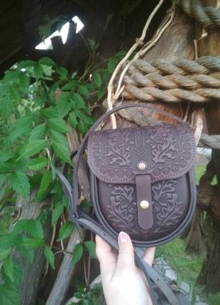 Клатч сумка ручной работы кожаная