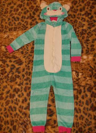 Пижама кигуруми слип человечек кошечка на 4-5 лет рост 104-110 см
