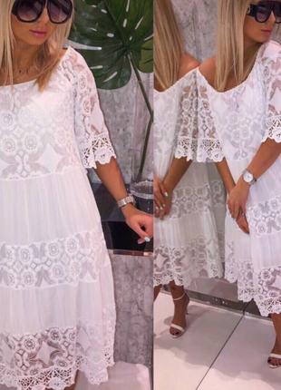 Платье кружевное италия