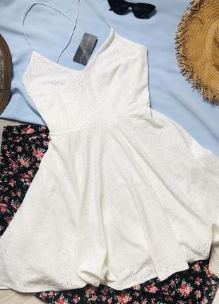 Летнее платье белый сарафан