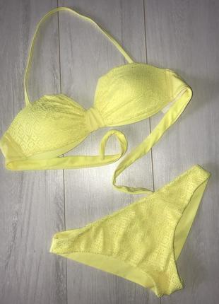 Яркий желтый купальник р. s