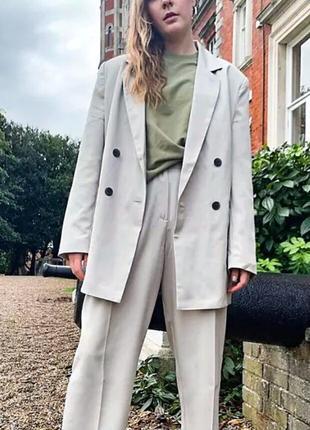Жакет пиджак блейзер двубортный піджак большой розмер оверсайз