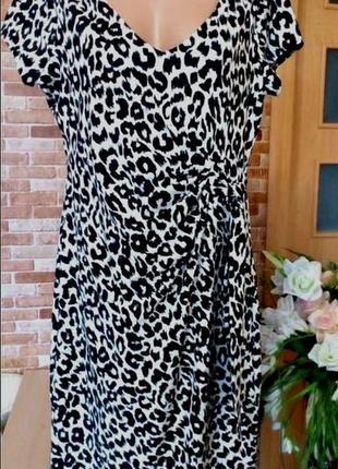 """Шикарное платье , принт -  """" снежный барс"""""""