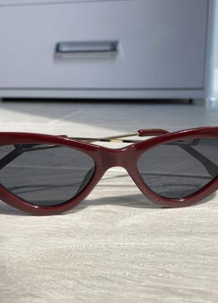 Очки cat eyes кошачий глаз солнцезащитные очки тренд