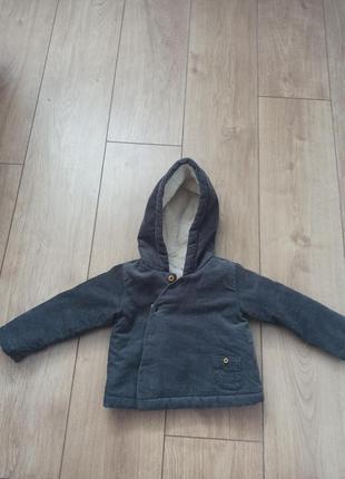 Теплая куртка дл новорожденных 9-12 мес zara