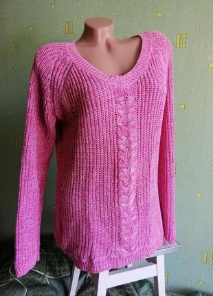 Розовый свитер f&f