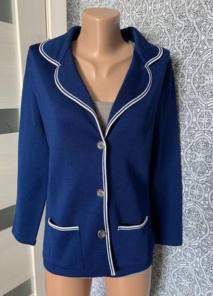 Шикарная синяя кофта кардиган made in britain
