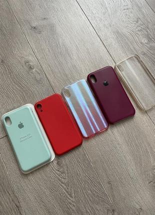 Набор чехлов на айфон xr iphone xr apple case бамперы apple xr