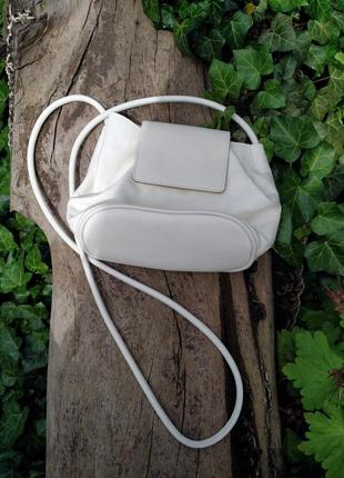 Кожаная молочная сумочка сумка zara