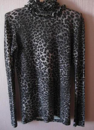 Мягкий леопардовый гольфик с застежкой