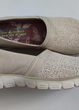Кросівки мокасіни skechers розмір 38