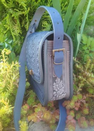 Сумка  шкіряна сумка кожаная ручной работы