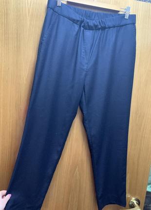 Синие брюки темно-синие штаны шерстяные