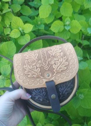 Клатч сумка кожаная сумка жіноча ручної роботи