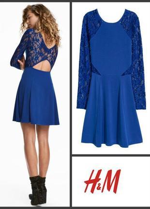 Платье с кружевом плаття сукня з мереживом от h&m