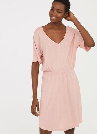 Базовое трикотажное платье вискоза от h&m