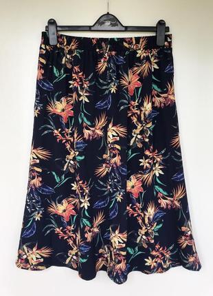 Длинная миди юбка цветочный принт m&co