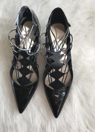 Туфли лодочки на шнуровке zara бесплатная доставка нп