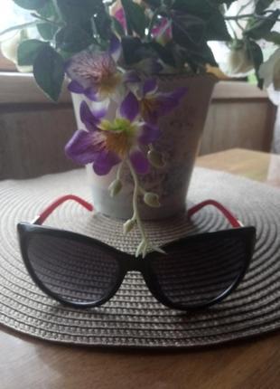 Солнцезащитные очки cardeo eyewear лисички оттеночные красные дужки