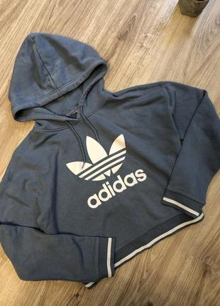 Adidas кроп топ худи бобка толстовка адидас
