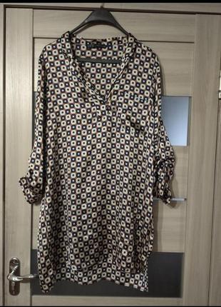 ❤️легкое платье zara короткий длинный рукав с дефектом
