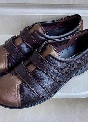 Кожаные туфли hotter, 5.5 размер.