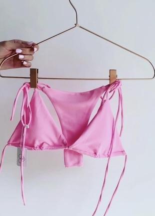 Розовый купальник на завязках новый